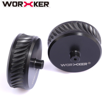 2Pcs WORKER ABS Modified Oblique Linie Schwungrad Rad (passend zu flachen Schwungradkäfig) für Nerf Stryfe / Rapidstrike / Rapid Red