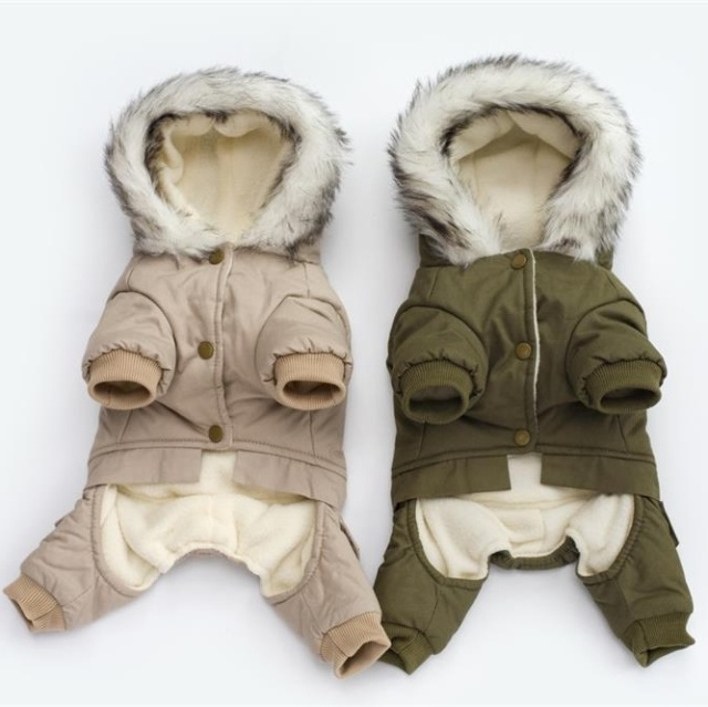 Pet Winter Warm Coat Jumpsuit