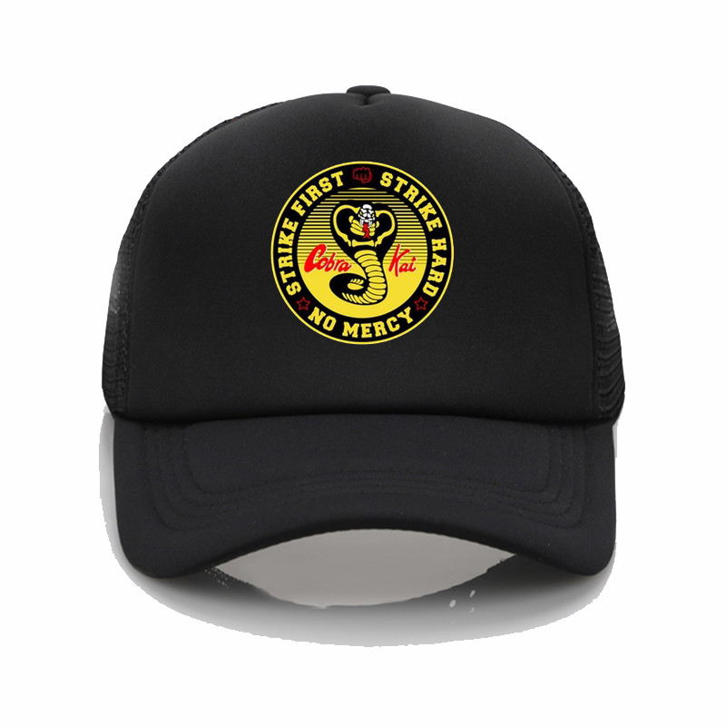 Cobra Kai Karate Kid Movie Men'S hat hombre camiseta printed hip hop hat Men and Women Fashion Summer Sun Hat Couple Outdoor Hat image