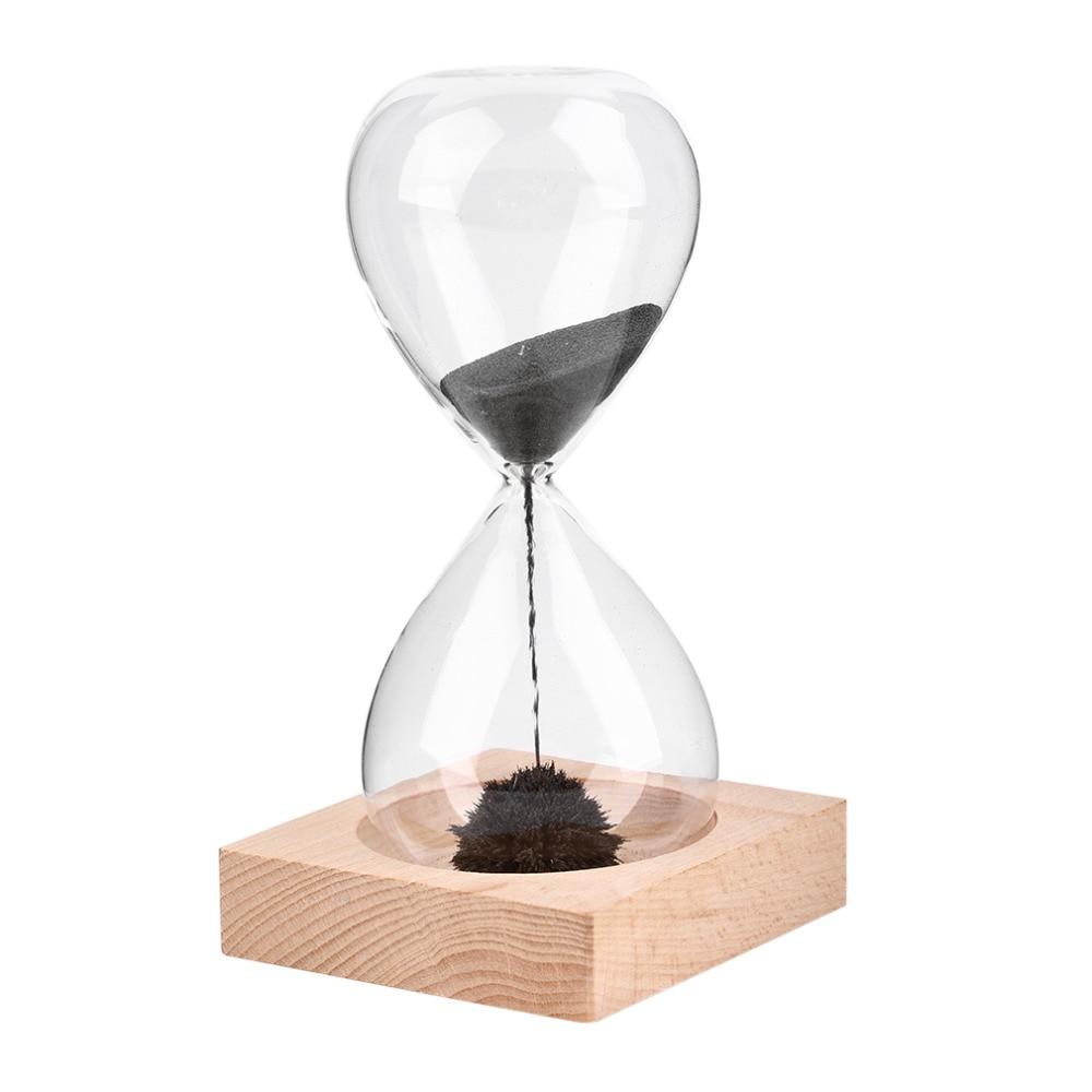 Free shipp 1Pcs Awaglass Hand-blown Timer clock Magnet Magnetic Hourglass ampulheta crafts sand clock hourglass timer Christmas