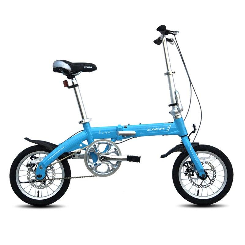 2016 14 pollici Bici Pieghevole In Lega Leggera di Alluminio bicicletta di riciclaggio per i Giovani con freni a disco bici Studente
