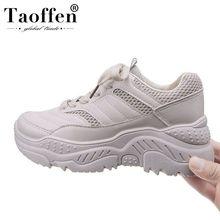 TAOFFEN White Brand Super Fashion Hot Sale Young Ladies Vulcanized Shoe