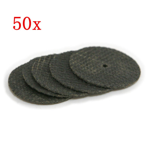 Cutting Disc Grinding Wheel Abrasive Cutting Discs Mini Drill Dremel Rotary Tool Accessories 50pcs & 1Mandrels
