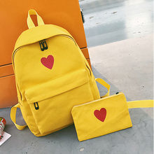 8524ca3a0bd8 Women Canvas Backpacks Female Rucksack Book Bags for School Kids Black  Yellow Pink Backpack for Girls Fashion Travel Bag