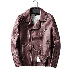B New spring autumn arrive brand motorcycle leather jacket men men's leather jackets jaqueta de couro masculina men leather coat