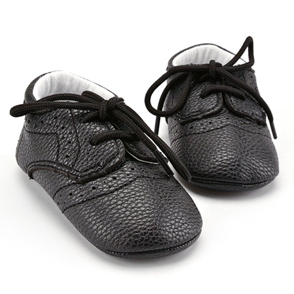 Newborn Toddler Infant Baby Boy Girls Shoes Laces Casual Sneaker PU Plaid Soft Sole Crib Shoes