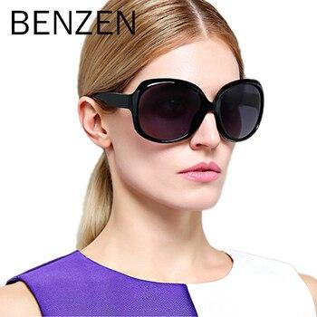 Женские солнцезащитные очки BENZEN, винтажные поляризационные солнцезащитные очки с футляром 6088