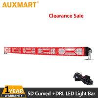 Auxmart 52 inch Curved LED Light Bar LED Chips Combo Beam Offroad 4x4 Led Bar Driving Work Light for Truck SUV 4WD 12v 24v Red