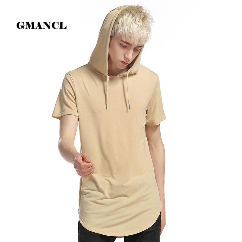 Men/'s Short Sleeve Hipster T Shirt Solid Hip Hop Hoodies Side Zipper Shirts Tee