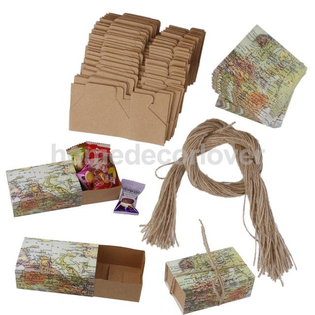 50pcs craft paper world map drawers wedding favors candy gift boxes 50pcs craft paper world map drawers wedding favors candy gift boxes gift box gumiabroncs Image collections