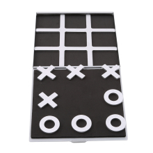 New Arrival Tic Tac Toe Game XO Games Noughts and Crosses Board Aluminum Folding Xmas Gift Educational Development Party Toy(China)