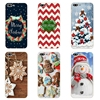 """For Apple iPhone 7 Plus Cover Phone Case 5 5C SE Shell 4.7"""" 6 6S 5.5 Inch Transparent Cover Soft Silicon Christmas Day Pattern"""