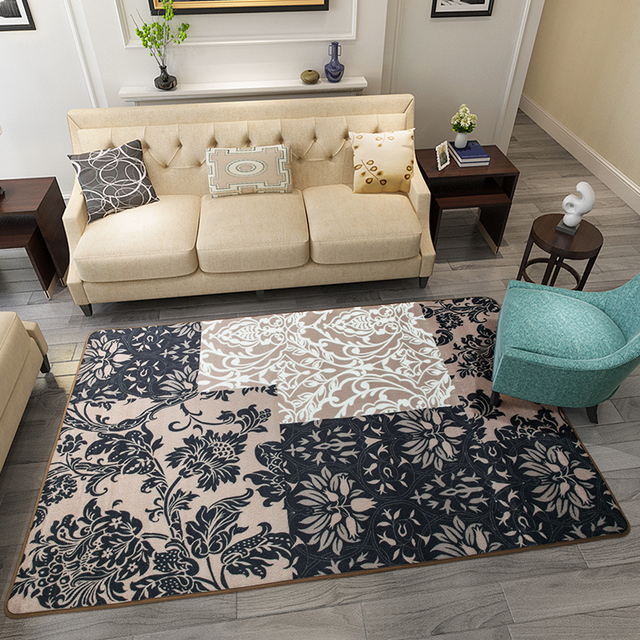 200x300cm Turkey Style Carpets For Living Room Splice Leaves Home Bedroom Rugs And Coffee Table