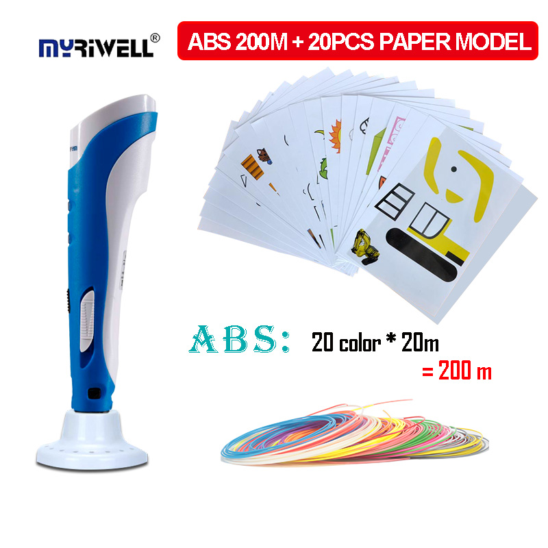 Myriwell 3d printing pen, 1.75 mm ABS  Filament, 2018 trendiest kids Christmas / birthday gift,Factory direct sales