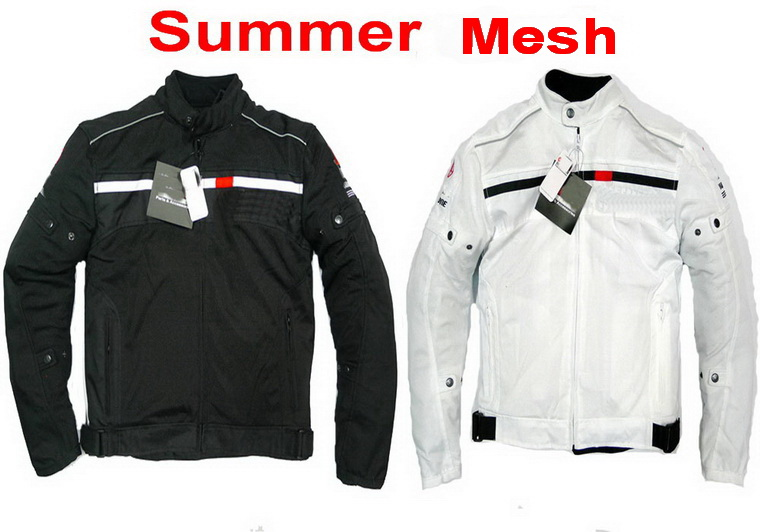 ФОТО Summer breathable mesh Off-road motorcycle riding clothes Jacket Motorbike racing suits Jackets MOTO Riding clothes black white