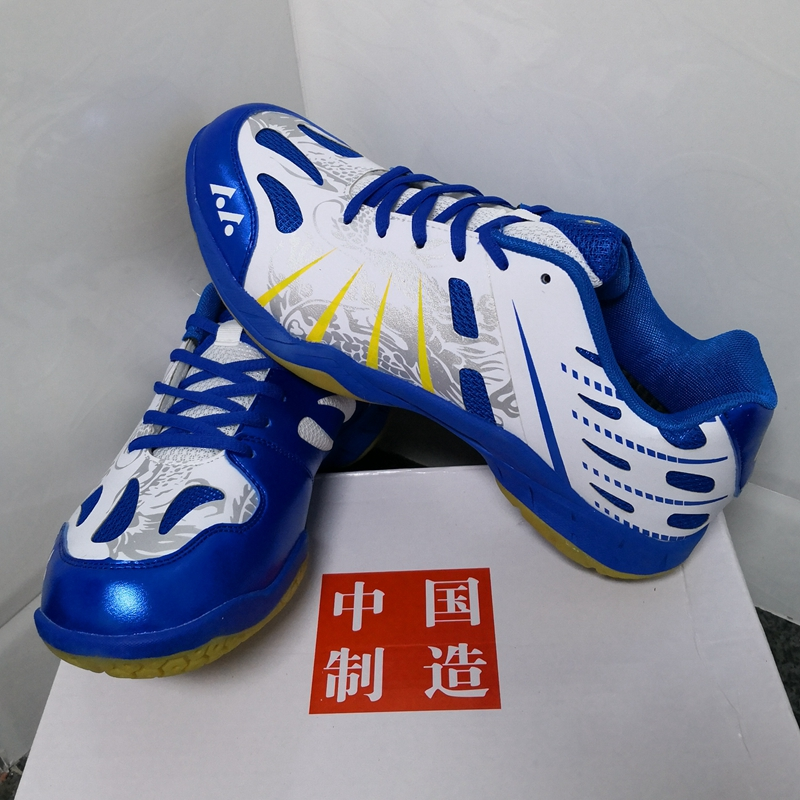 Blue Badminton Shoes Professional Badminton Sport Shoes Anti skid Sneakers Training Shoes for Men and Women Couples Tennis Light