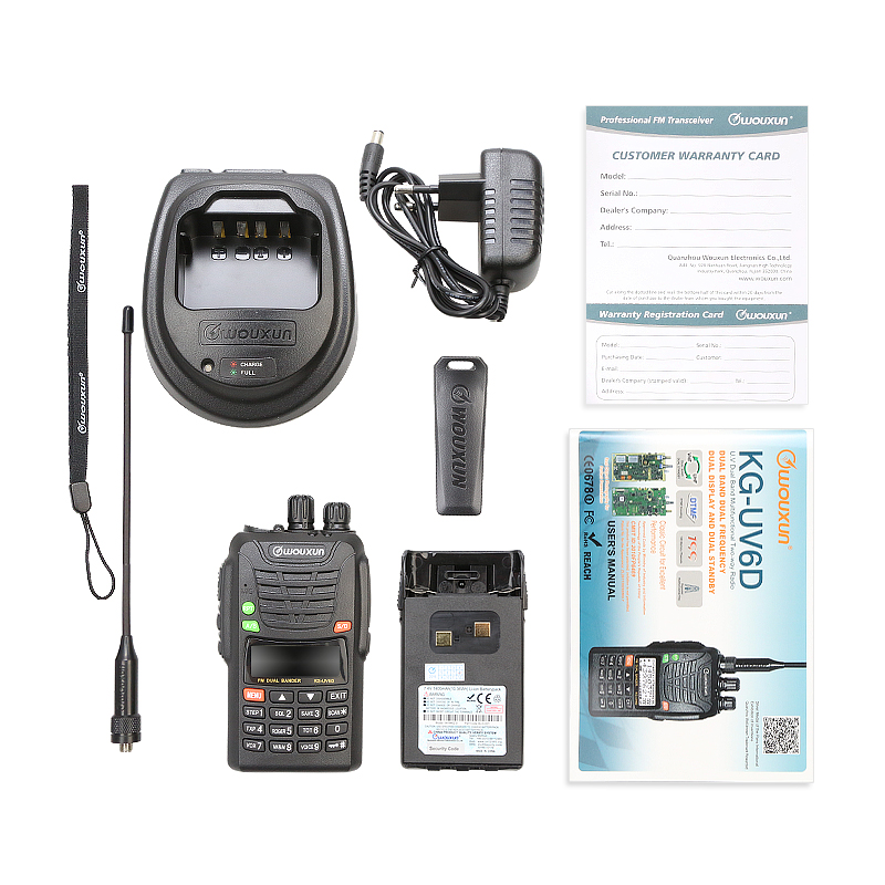 New Original Wouxun KG UV6D Dual Band VHF UHF Professional FM Two way Radio WOUXUN KG UV6D Walkie Talkie 10km in Walkie Talkie from Cellphones Telecommunications