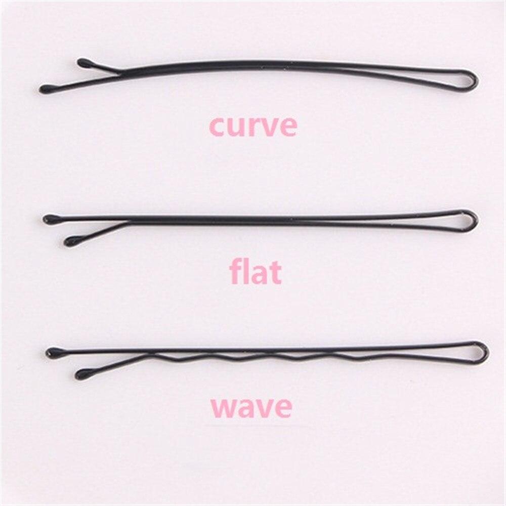 Плоские волнистые заколки для волос, 30 шт., черные заколки для волос из сплава, 6 см, волнистые заколки для волос, невидимые волнистые ручки, П...