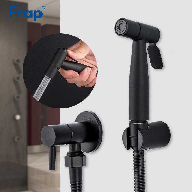 Frap Bidets Black Bathroom Bidet Toilet Faucet Bidet Mixer Hygienic Shower Muslim Shower Single Hole Portable Sprayer Y50057