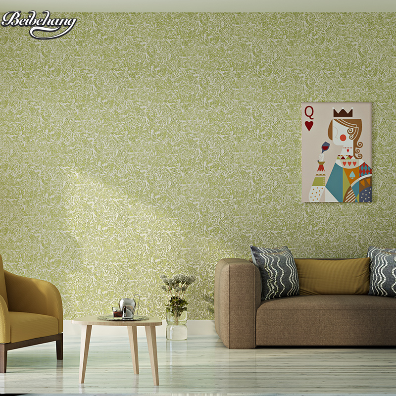 beibehang Simple non-woven wallpaper warm living room plain full of diatom mud bedroom 3D stereo background wall beibehang environmentally friendly non woven plain plain wallpapers simple modern bedroom living room tv background wallpaper