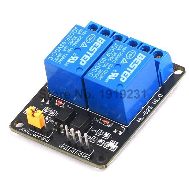 1PCS 2 Channel Relay Module 3.3V Optocoupler Drive Module Relay Control Board