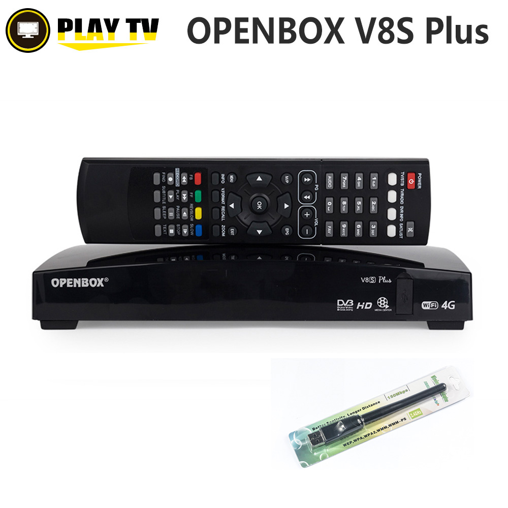 Véritable Openbox V8S Plus DVB-S2 récepteur Satellite numérique prise en charge partage de carte Xtream Portugal Youtube USB Wifi MGCAMD DVB S2