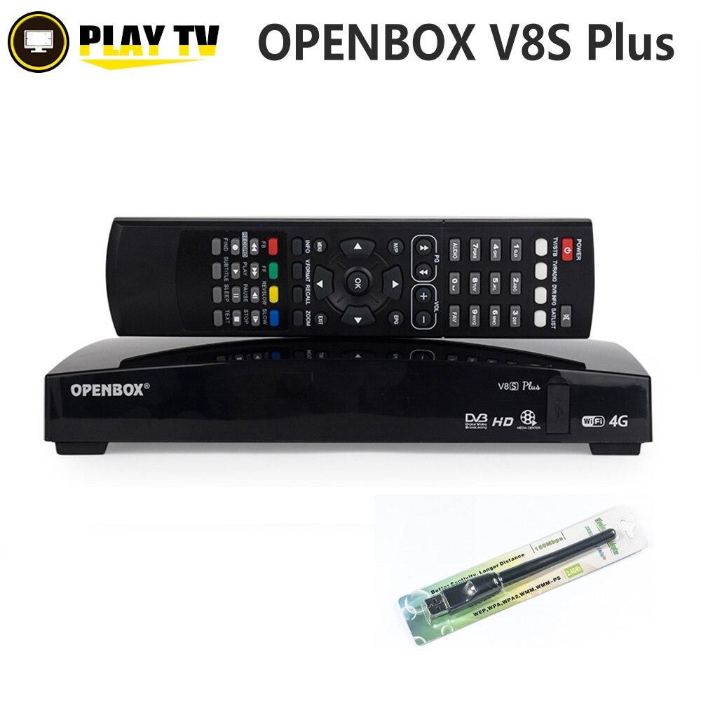 Véritable Openbox V8S Plus DVB-S2 récepteur Satellite numérique Support de carte partage Xtream Portugal Youtube USB Wifi MGCAMD DVB S2