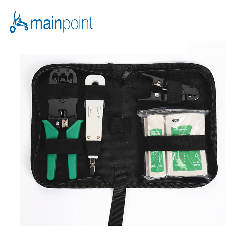 Mainpoint 4Pcs font b Network b font Combination Cable Wire Tester Crimping Cutter Punch Down Hand