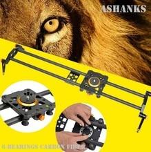 Ashanks 60 cm 6 Rodamientos Fibra De Carbono DSLR Cámara DV Estabilizador De Vídeo Deslizante Track Rail Track Deslizante Para DSLR o videocámara