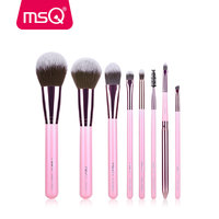 MSQ New Arrival 8pcs Makeup Brushes Pink Set Professional Cosmetic Beauty Tool Make Up Brush With