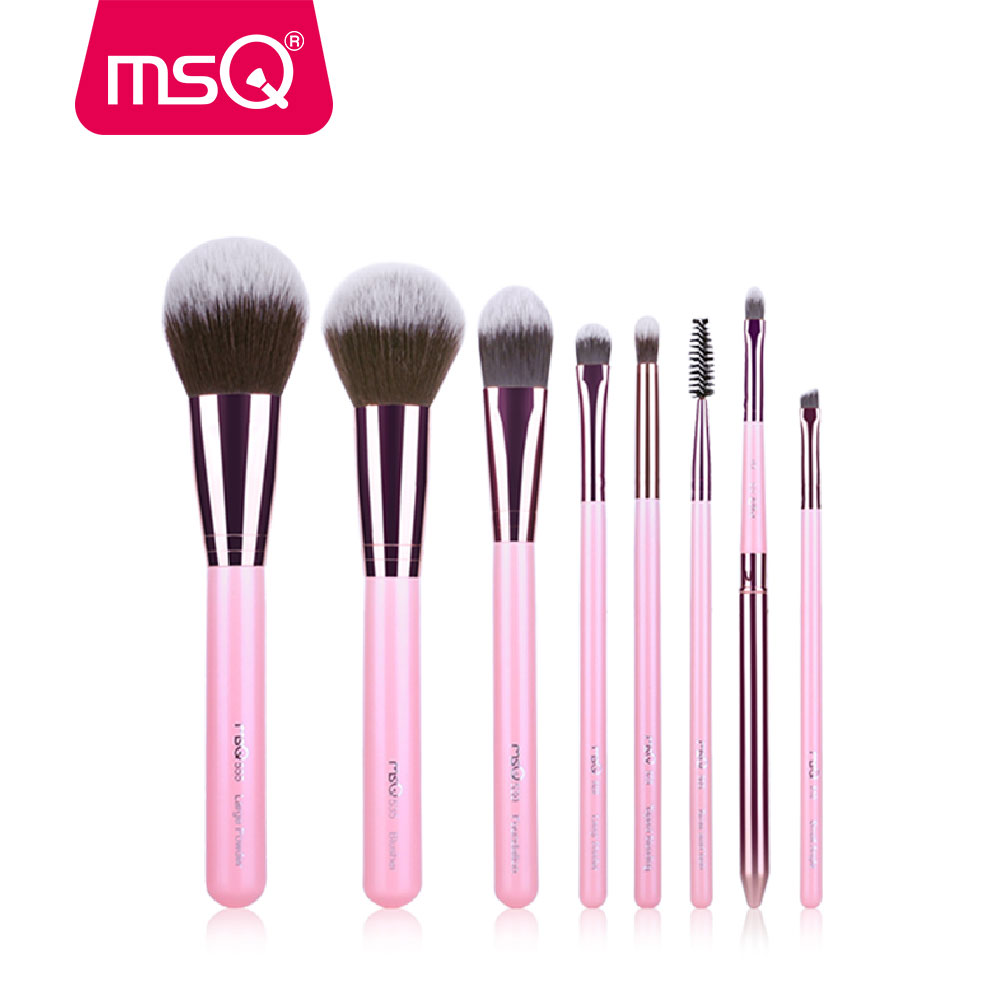 где купить MSQ New Arrival Makeup Brushes Professional Cosmetics Brush Set 8pcs High Quality Synthetic Hair Brush Set по лучшей цене