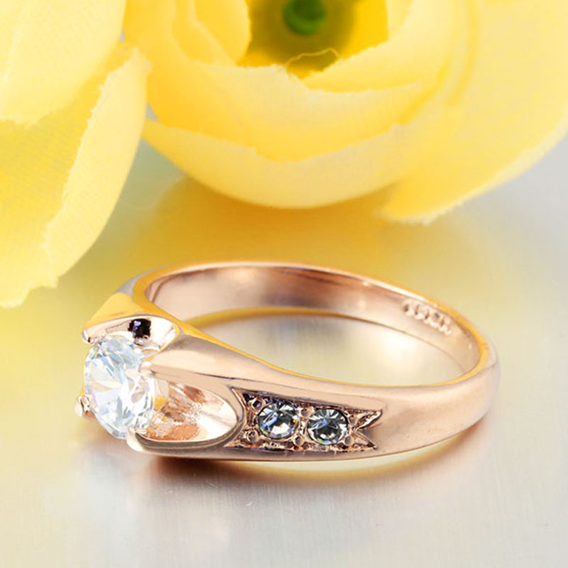 Wedding Ring Gold Color Polish Rings For Women Fashion