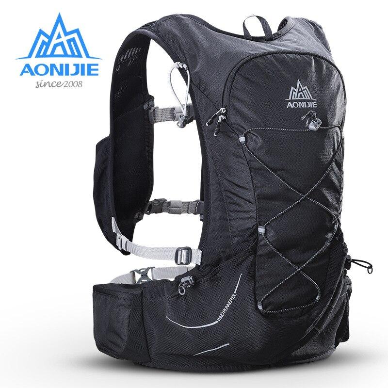 AONIJIE 15L 屋外軽量水分補給バックパックリュックサックバッグ 3L 膀胱ハイキング超トレイルランニングレース