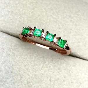 Image 2 - natural green emerald gemstone ring in 925 sterling silver fine jewelry for women ,Real emerald Ring with box