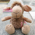 NICI 25cm Flower Brown Sheep Stuffed Plush Toy, Baby Kids Doll Gift Free Shipping