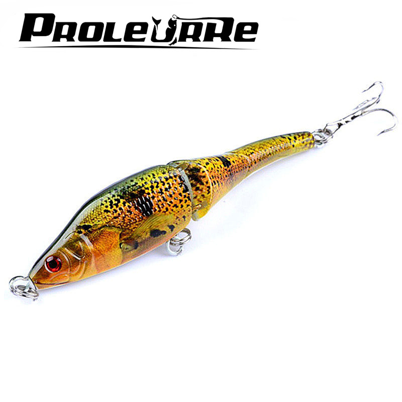 1Pcs 9.5cm 9g 3 Sections full swimming layer Wobbler Lifelike Minnow Fishing Lures Swimbait Jointed Hook Crankbait Crazy fishing 1pcs 9 5cm 9g 3 sections full swimming layer wobbler lifelike minnow fishing lures swimbait jointed hook crankbait crazy fishing