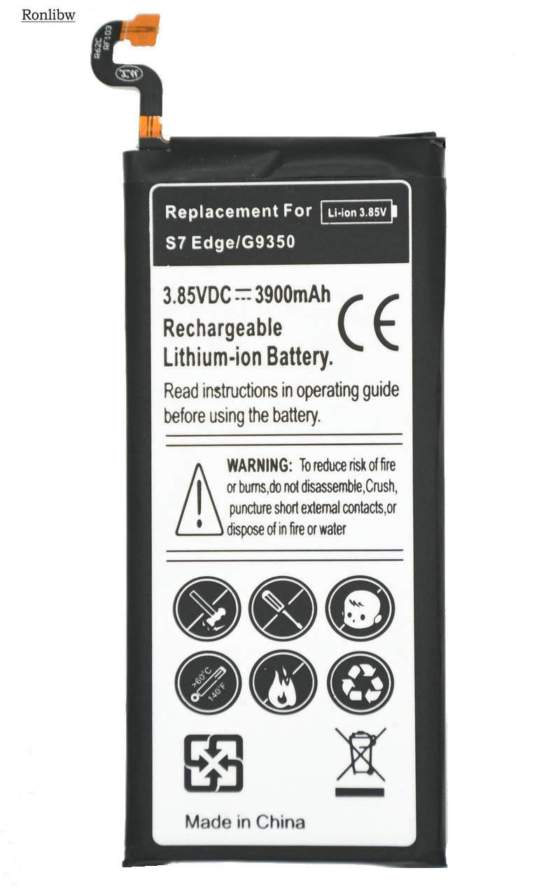 Ronlibw Replacement-Battery S7-Edge G9350 Samsung Galaxy 3900mah 5pcs For G935/G935f/G935r4/..