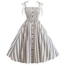 2019 New Yfashion Fashionable Ladies Summer Stripe Printed Dress
