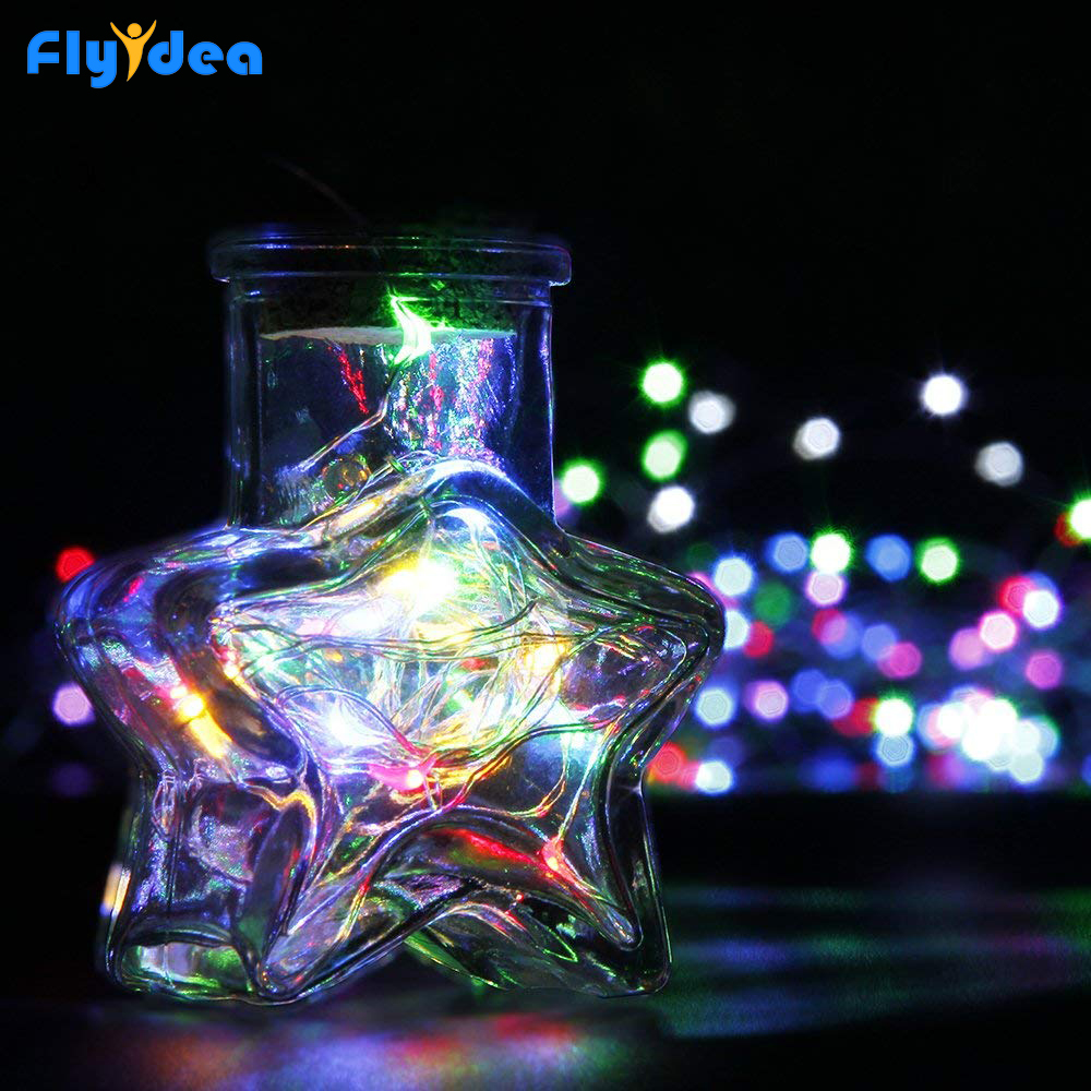 New Year Garland Festival Wedding Party Decoration Lights Lanterns Christmas Lights LED Button Battery Copper Fairy String Lamp