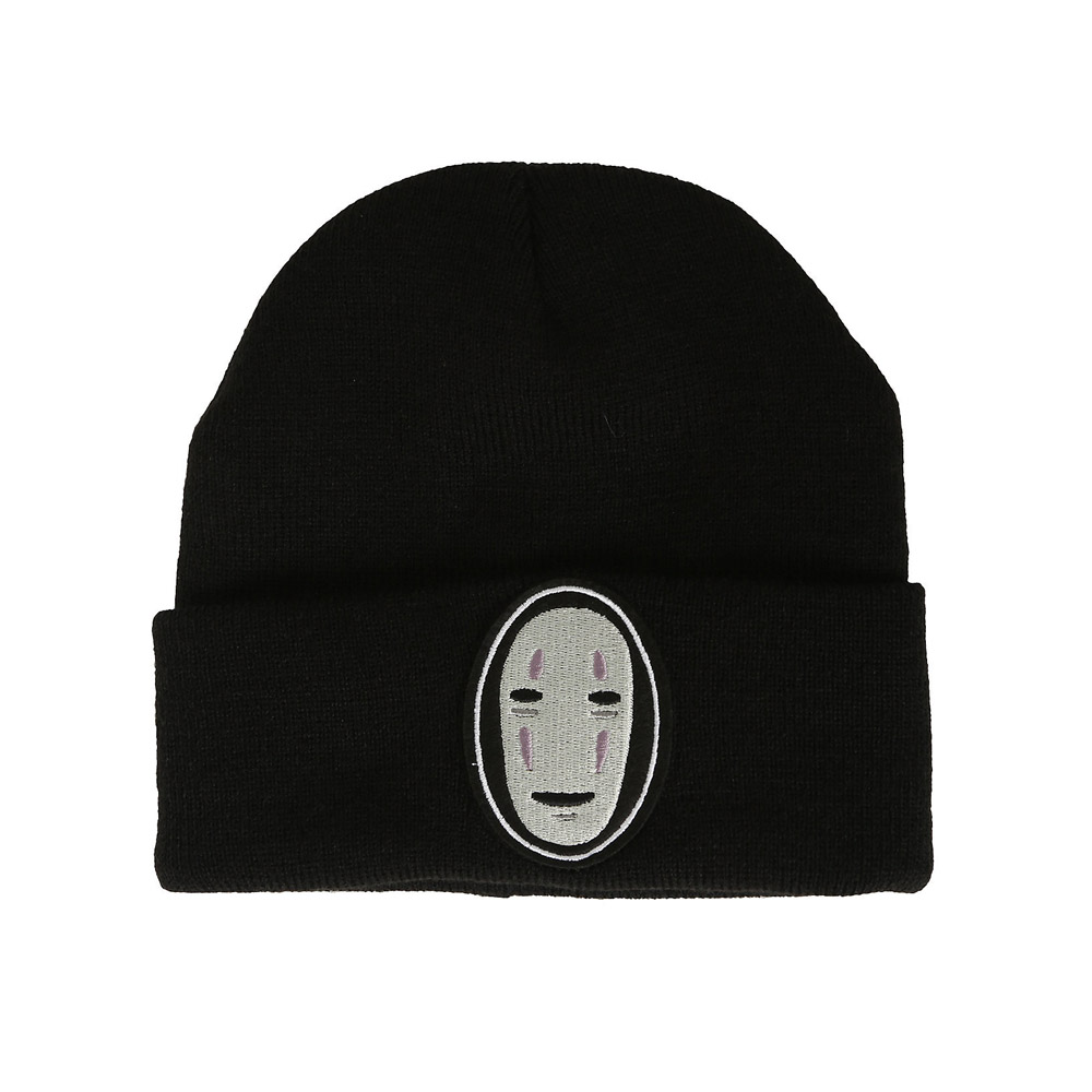 Hayao Miyazaki Anime Spirited Away No Face Beanies Knitted Hats Cartoon character Embroidered hat Ski Cap B23F1 a spirited resistance