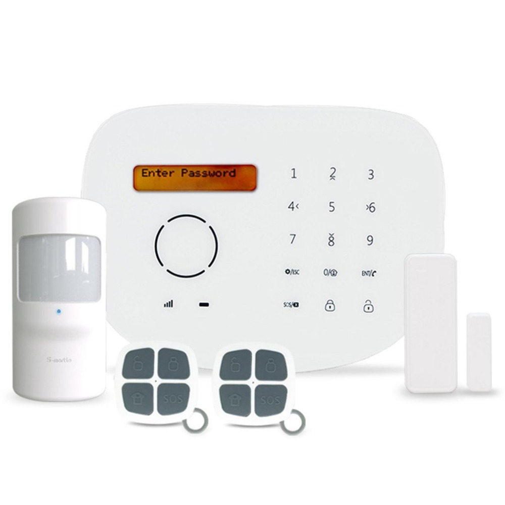 GS-S2-GSM wireless GSM alarm system with camera Touchpad App control home burglar alarm kit