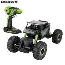 Дети 2,4 ГГц RC автомобиль 4WD Рок Гусеничный ралли восхождение автомобиль 4×4 двойные двигатели Bigfoot автомобиль пульт дистанционного управления модель внедорожный автомобиль игрушки