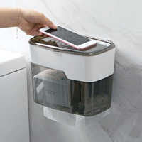 Free Punch Toilet Tray Towel Rack Paper Holder Bathroom with Cover Waterproof Roll Holder