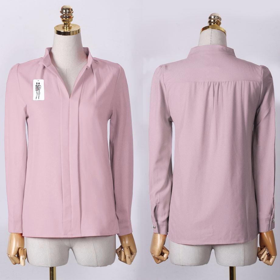 HTB17ffnOXXXXXcfXVXXq6xXFXXX1 - Long Sleeve Elegant Ladies Office Shirts Fashion Casual Slim Women