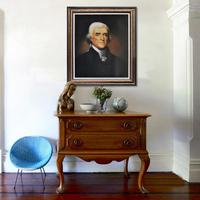 Handpainted Portrait of Thomas Jefferson artwork reproduction oil painting on canvas china wall decoration in home decor MP018