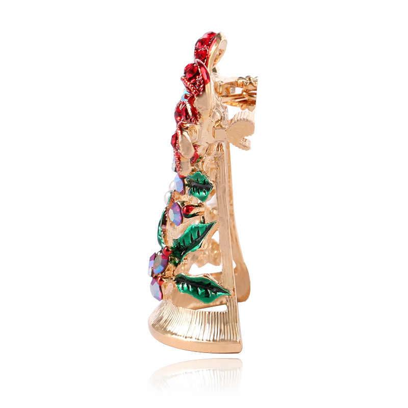 Cindy Xiang Mengkilap Rhinestone Bell Bros untuk Wanita Lucu Tahun Baru Pakaian Pin Perhiasan Natal Aksesoris Hot Penjualan 2018