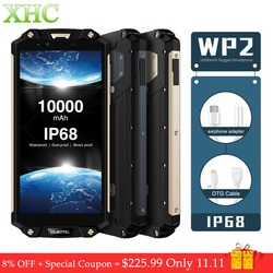 OUKITEL WP2 IP68 Waterproof Mobile Phone 4GB 64GB MT6750T Octa Core 6.0inch 18:9 10000mAh Fingerprint Dual SIM LTE 4G Smartphone