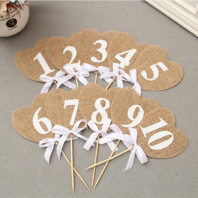 Number 1 10 Rustic Hessian Wedding Table Decoration Wedding Table
