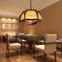 Лампа маджонг энергосберегающий подвесной светильник Деревянный светильник антикварная лампа для изучения освещения MZ5587