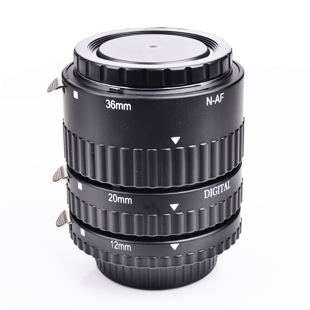 Meike Auto Focus métal AF Macro Extension Tube ensemble pour Nikon D7100 D7000 D5100 D5300 D3100 D800 D750 D600 D90 D80 DSLR appareil photo - 3